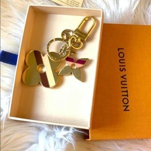 Authentic Louis Vuitton flower stripe charm